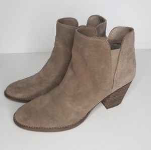 Dolce Vita Suede Taupe Booties